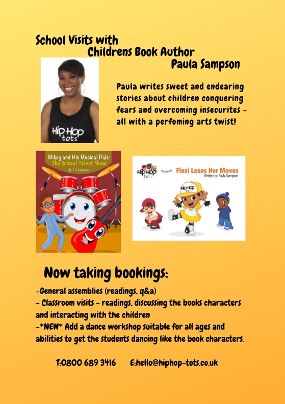 School Visits with Childrens book author Paula Sampson