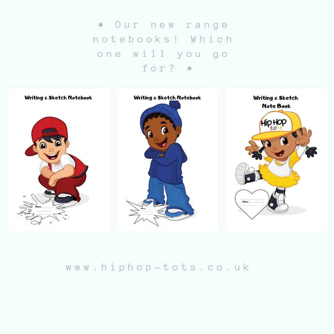 Hip Hop Tots range of notebooks