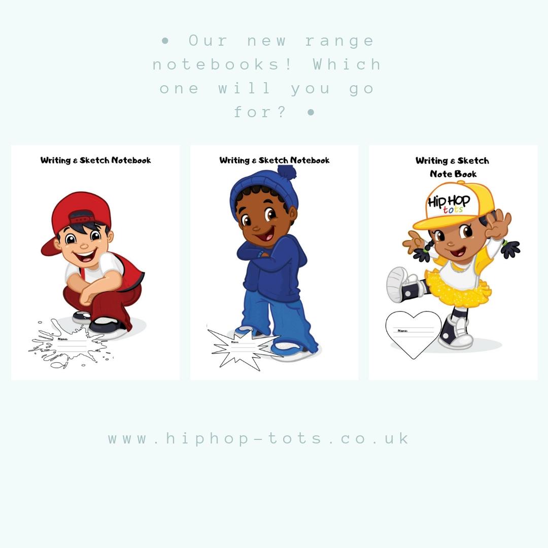 Hip Hop Tots range of notebooks